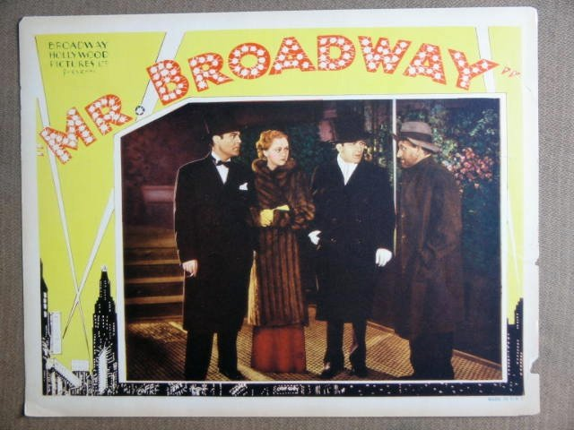 EP28 Mr Broadway ED SULLIVAN/RUTH ETTING Lobby Card