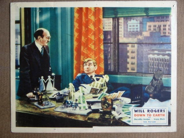 EQ10 Down To Earth WILL ROGERS Original 1932 Lobby Card