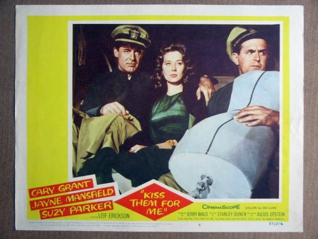 EQ24 Kiss Them For Me CARY GRANT/SUZY PARKER Lobby Card