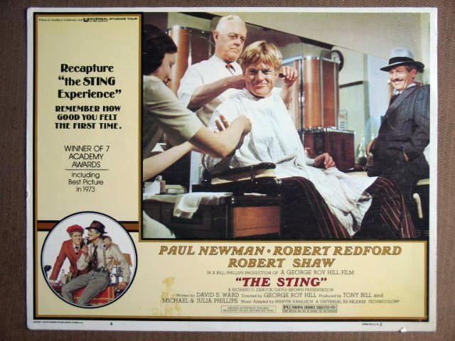 EQ37 Sting PAUL NEWMAN/ROBERT REDFORD Lobby Card