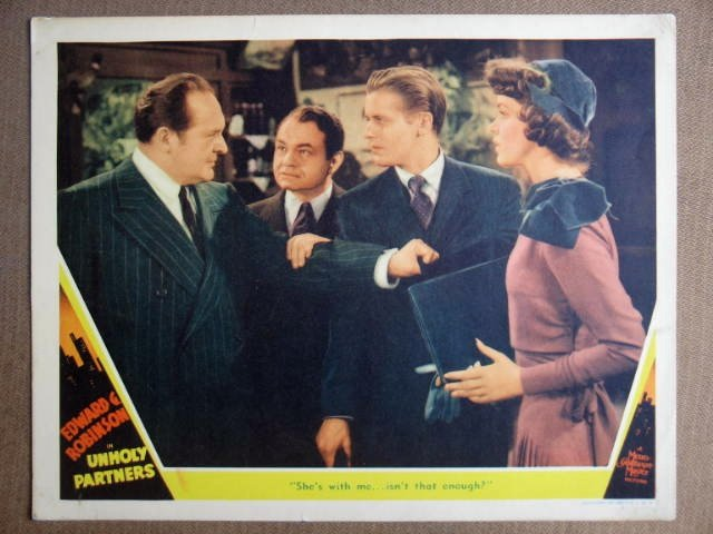 EQ44 Unholy Partners EDWARD G. ROBINSON Lobby Card