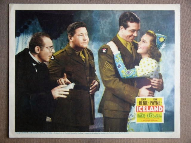 ER10 Iceland SONJA HENIE/JOHN PAYNE 1942 Lobby Card