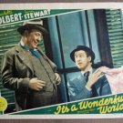 ER11 It's A Wonderful World JAMES STEWART Lobby Card