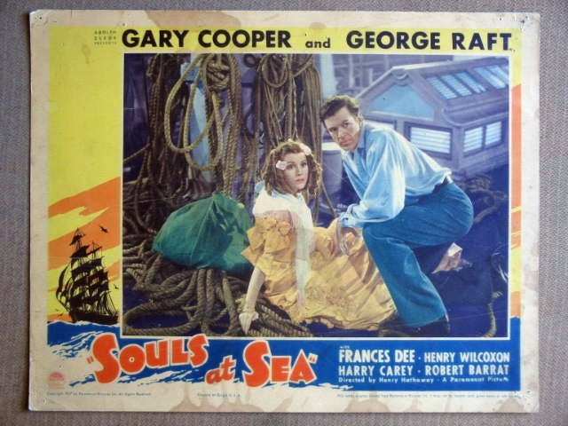 ER22 Souls At Sea GARY COOPER/FRANCES DEE Lobby Card