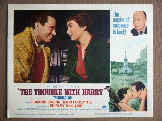 ER27 Trouble With Harry SHIRLEY MacLAINE Lobby Card