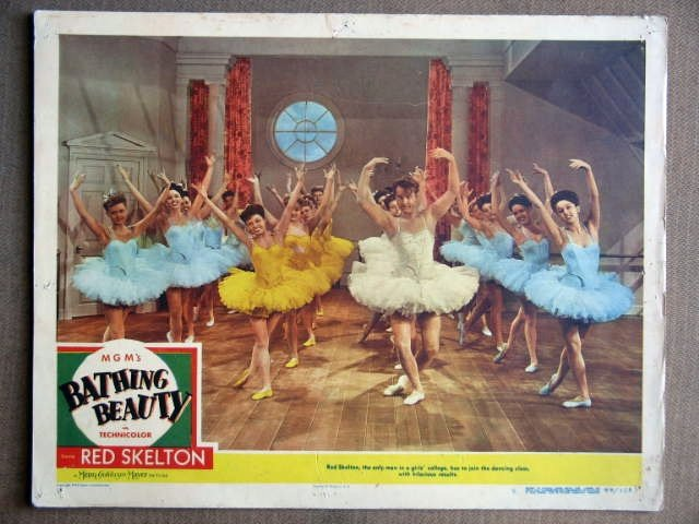 ES01 Bathing Beauty RED SKELTON (in tutu) Lobby Card