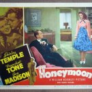 ES14 Honeymoon SHIRLEY TEMPLE/FRANCHOT TONE Lobby Card