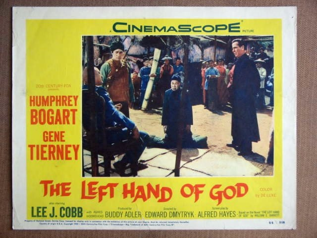 ES26 Left Hand Of God HUMPHREY BOGART Lobby Card