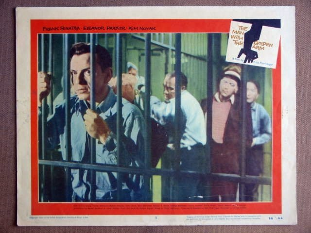 ES29 Man With The Golden Arm FRANK SINATRA Lobby Card