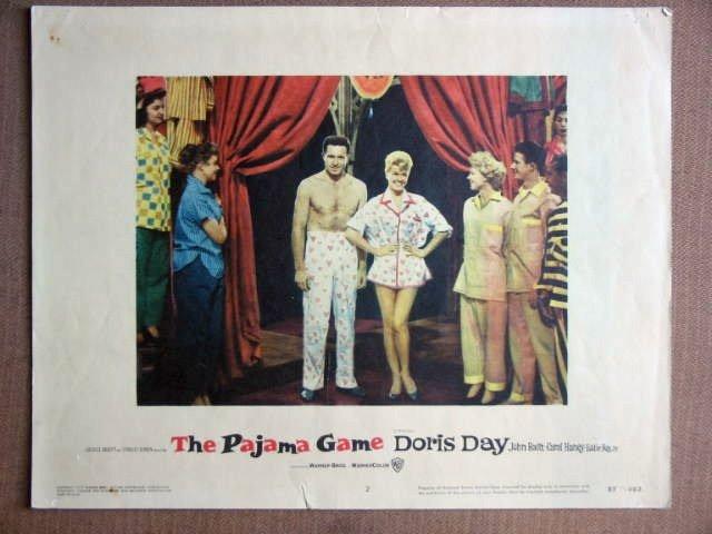 ES33 Pajama Game DORIS DAY/JOHN RAITT Lobby Card