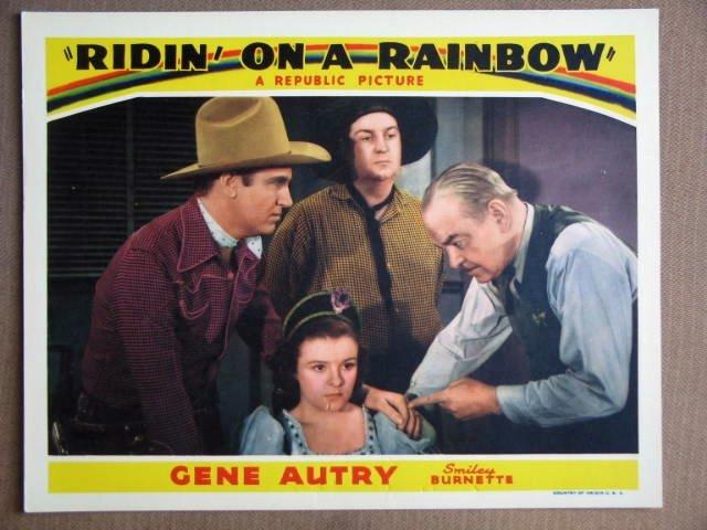 ES36 Ridin On A Rainbow GENE AUTRY 1941 Lobby Card