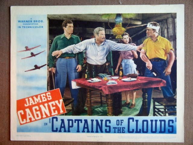 ET07 Captains Of Clouds JAMES CAGNEY 1942 Lobby Card
