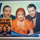 ET23 Let's Get Married IDA LUPINO Portrait Lobby Card