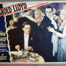 ET26 Movie Crazy HAROLD LLOYD Original 1932 Lobby Card