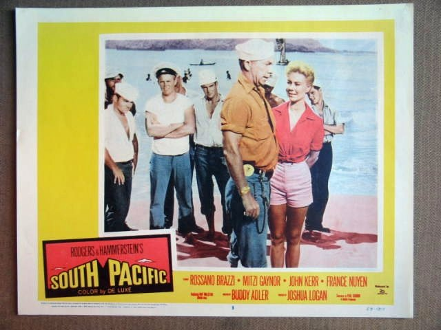 ET38 South Pacific MITZI GAYNOR/RAY WALSTON Lobby Card