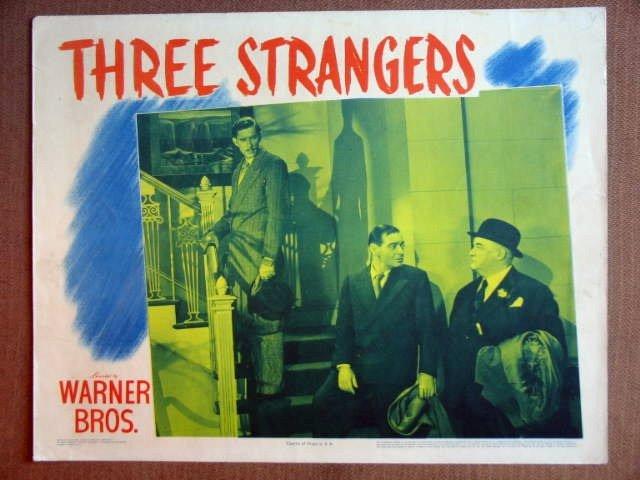 ET48 3 Strangers PETER LORRE/SID GREENSTREET Lobby Card