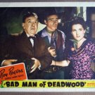 EU02 Bad Man Of Deadwood ROY ROGERS Portrait Lobby Card