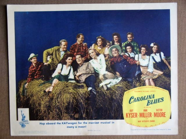 EU10 Carolina Blues ANN MILLER/KAY KYSER Lobby Card