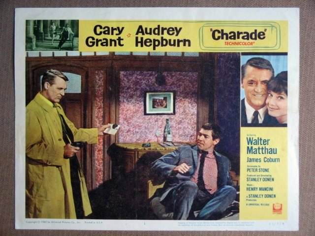 EU11 Charade CARY GRANT/AUDREY HEPBURN Lobby Card
