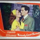 EU31 Nobody Lives Forever JOHN GARFIELD 1946 Lobby Card