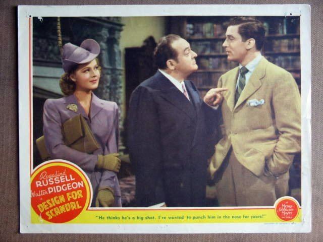 EV15 Design For Scandal WALTER PIDGEON 1941 Lobby Card