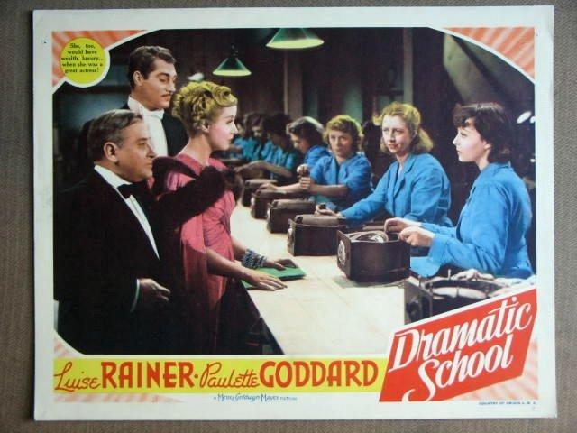 EV19 Dramatic School LUISE RAINER/P GODDARD Lobby Card