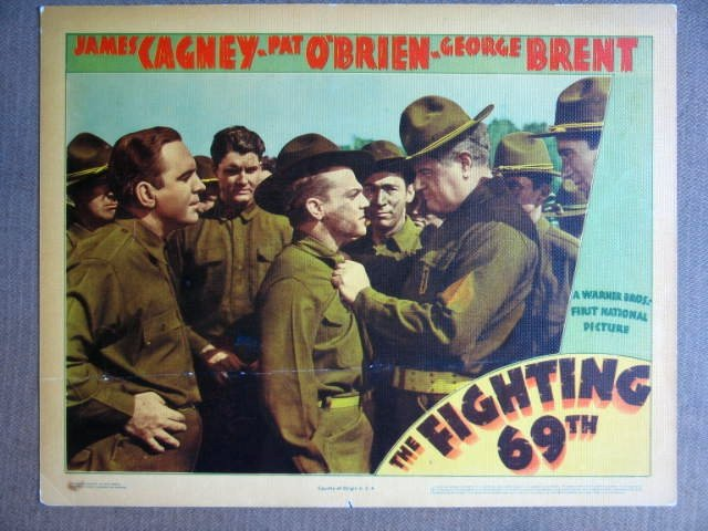 EV20 Fighting 69th JAMES CAGNEY  1940 Lobby Card