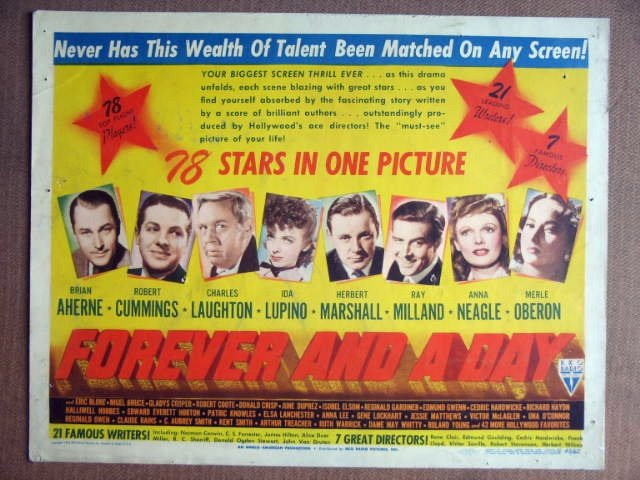 EV21 Forever & A Day IDA LUPINO/OBERON Title Lobby Card