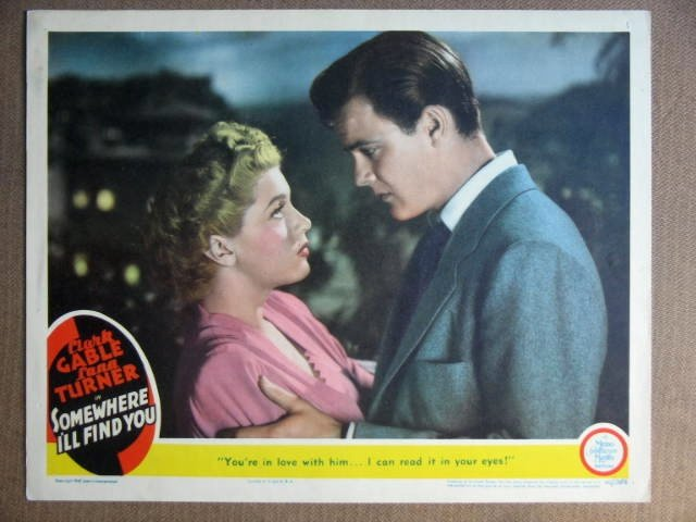 EV37 Somewhere I'll Find LANA TURNER 1942 Lobby Card