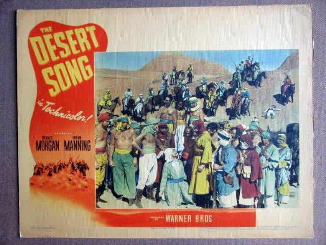 EW13 Desert Song DENNIS MORGAN/IRENE MANNING Lobby Card
