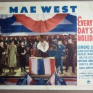 EW19 Every Day's A Holiday MAE WEST 1938  Lobby Card