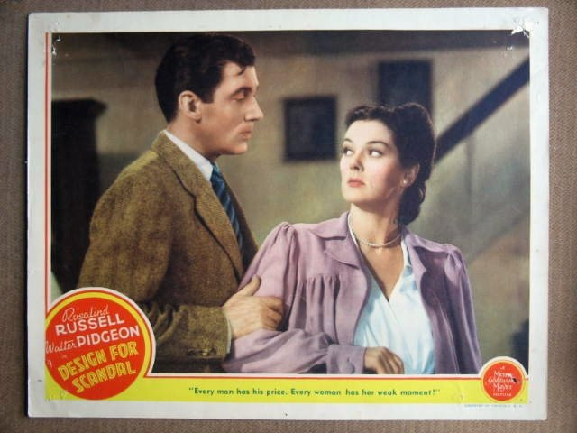 EX14 Design For Scandal ROSALIND RUSSELL Lobby Card
