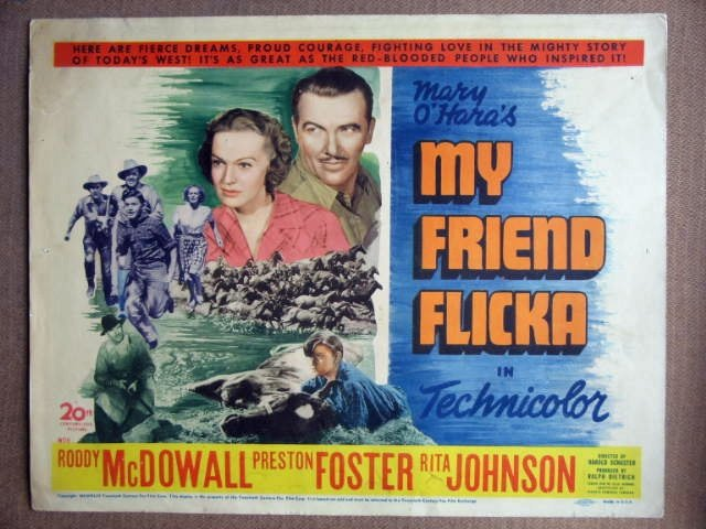 EX36 My Friend Flicka RODDY McDOWALL Title Lobby Card