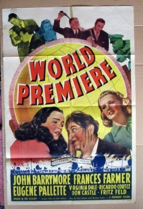 EX49 World Premiere JOHN BARRYMORE '41 One Sheet Poster