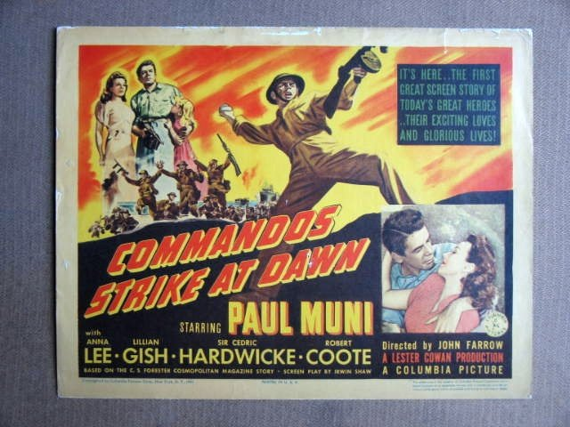 EY05 Commandoes Strike PAUL MUNI/LEE Title Lobby Card