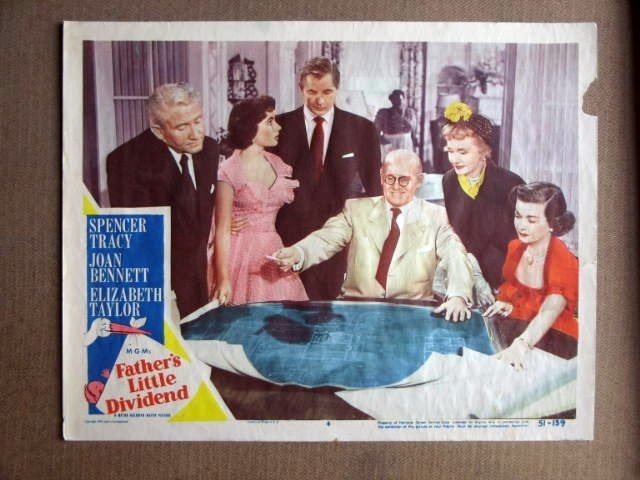 EY22 Father's Little Dvdn ELIZABETH TAYLOR Lobby Card