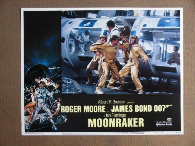 EY31 Moonraker ROGER MOORE/JAMES BOND Lobby Card