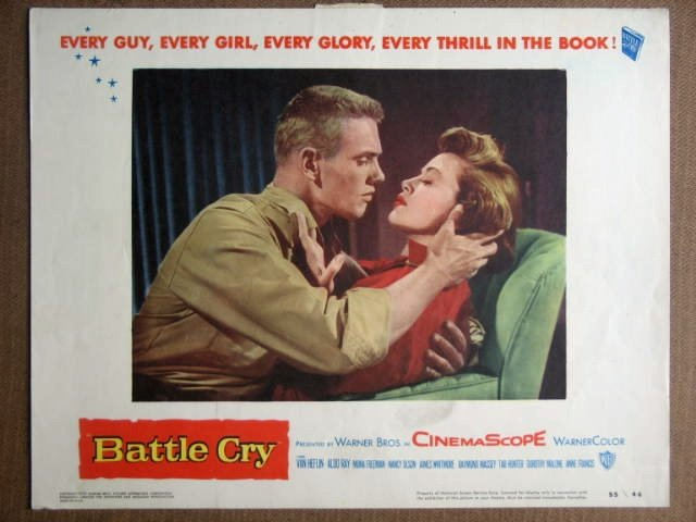 EZ11 Battle Cry TAB HUNTER 1955 Portrait Lobby Card