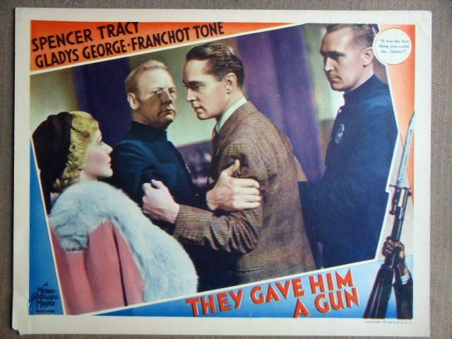 EZ47 They Gave Him A Gun FRANCHOT TONE Lobby Card
