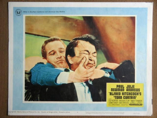EZ50 Torn Curtain PAUL NEWMAN/HITCHCOCK Lobby Card