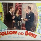 FA08 Follow The Boys GEORGE RAFT/D O'CONNOR Lobby Card