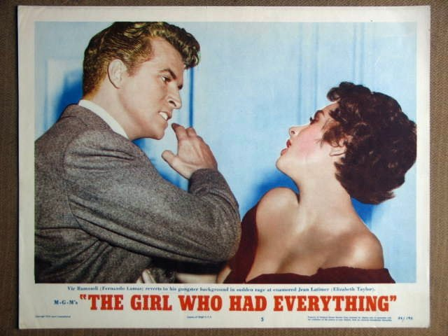 FA12 Girl Who Has ELIZABETH TAYLOR Portrait Lobby Card