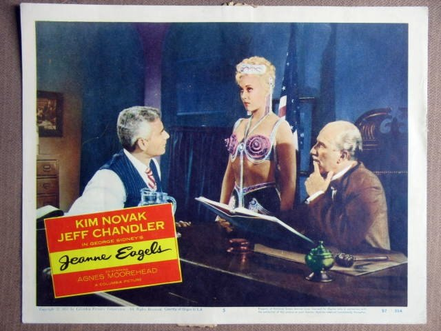 FA28 Jeanne Eagels KIM NOVAK/JEFF CHANDLER Lobby Card