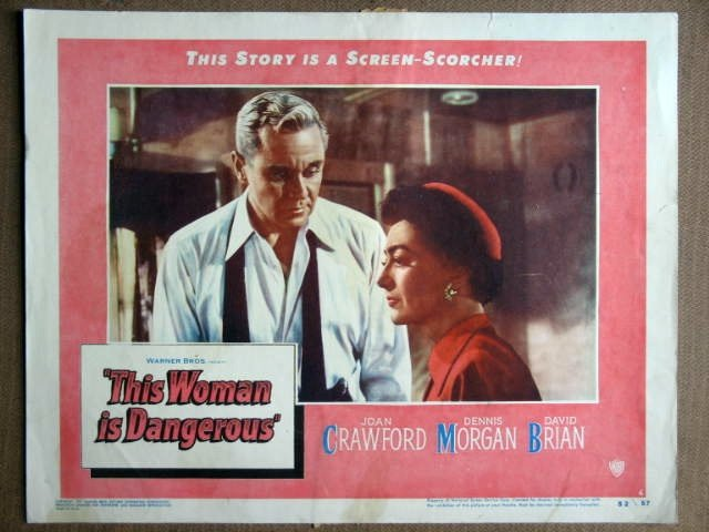 FA51 Woman Is Dangerous JOAN CRAWFORD 1952 Lobby Card