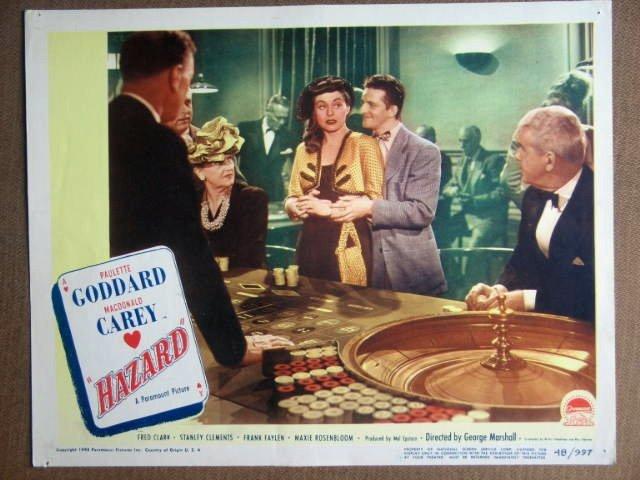 FB23 Hazard PAULETTE GODDARD Original 1948 Lobby Card