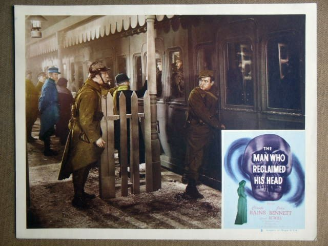FB29 Man Who Reclaimed Head CLAUDE RAINS Lobby Card