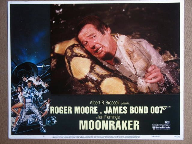 FB33 Moonraker ROGER MOORE/JAMES BOND 007 Lobby Card