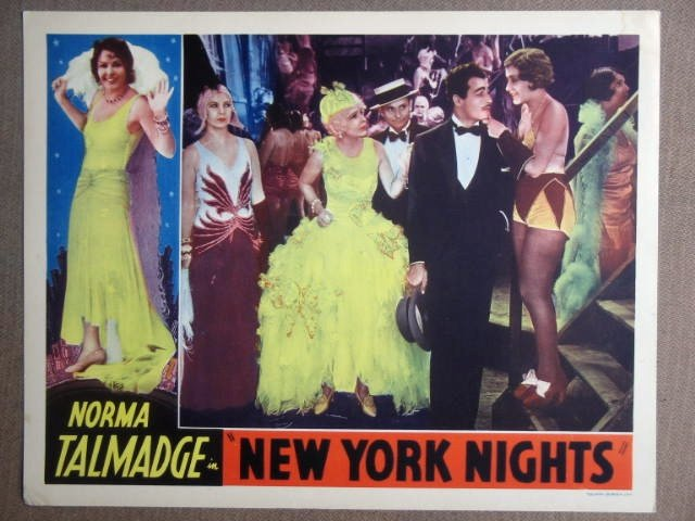 FB36 New York Nights NORMA TALMADGE Lobby Card