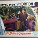 FB38 Private Secretary EDWARD EVERETT HORTON Lobby Card