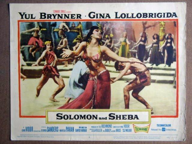 FB40 Solomon & Sheba GINA LOLLOBRIGIDA 1959 Lobby Card